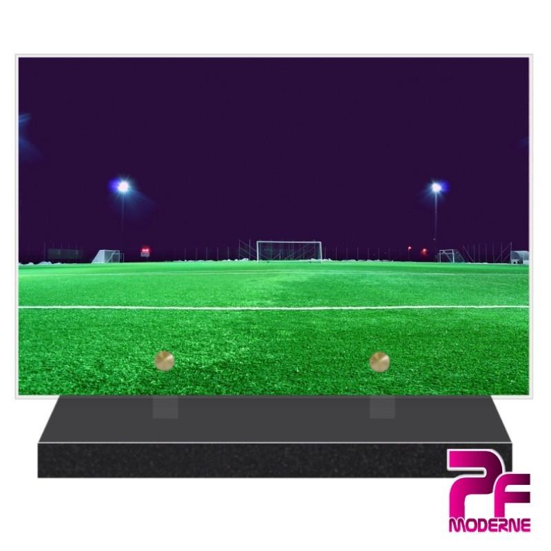 PLAQUE FUNÉRAIRE BALLON DE FOOTBALL PFM10163