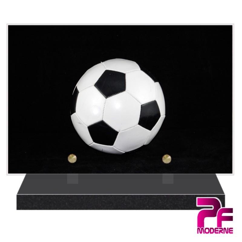 PLAQUE FUNÉRAIRE FOOTBALL BALLON PFM10166