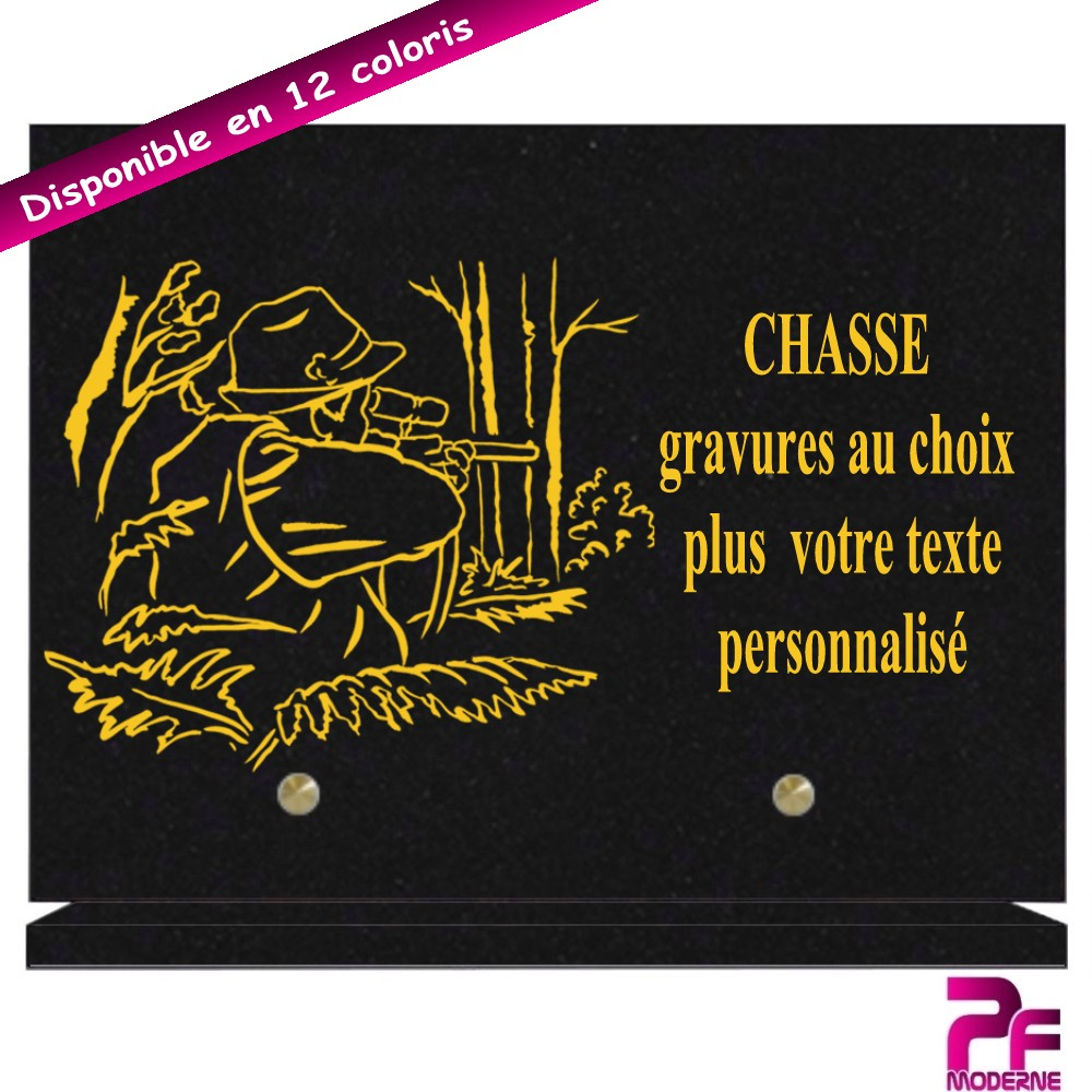 PLAQUES FUNÉRAIRES CHASSE - CHASSEUR