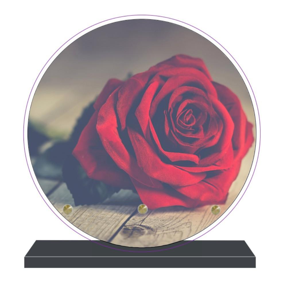 plaque funeraire ronde personnalisable