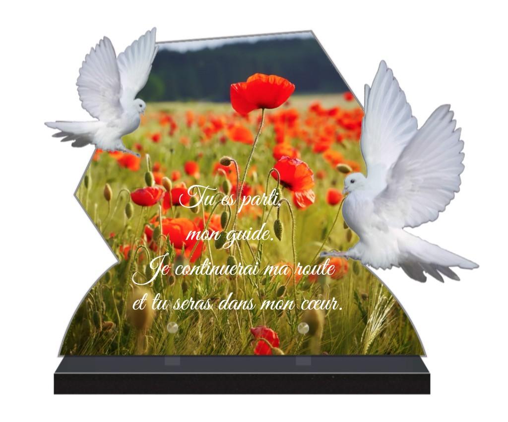 plaque funeraire personnalisée