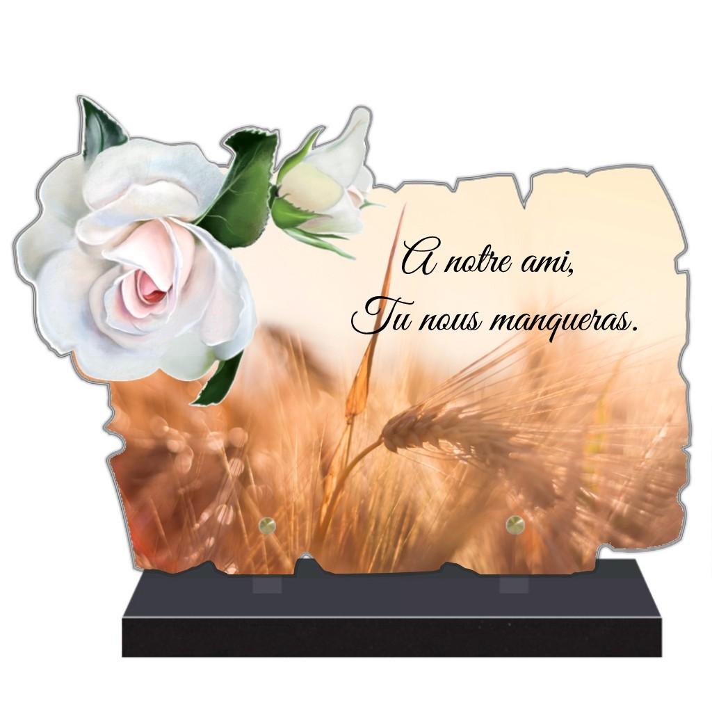 plaques funéraires personnalisables