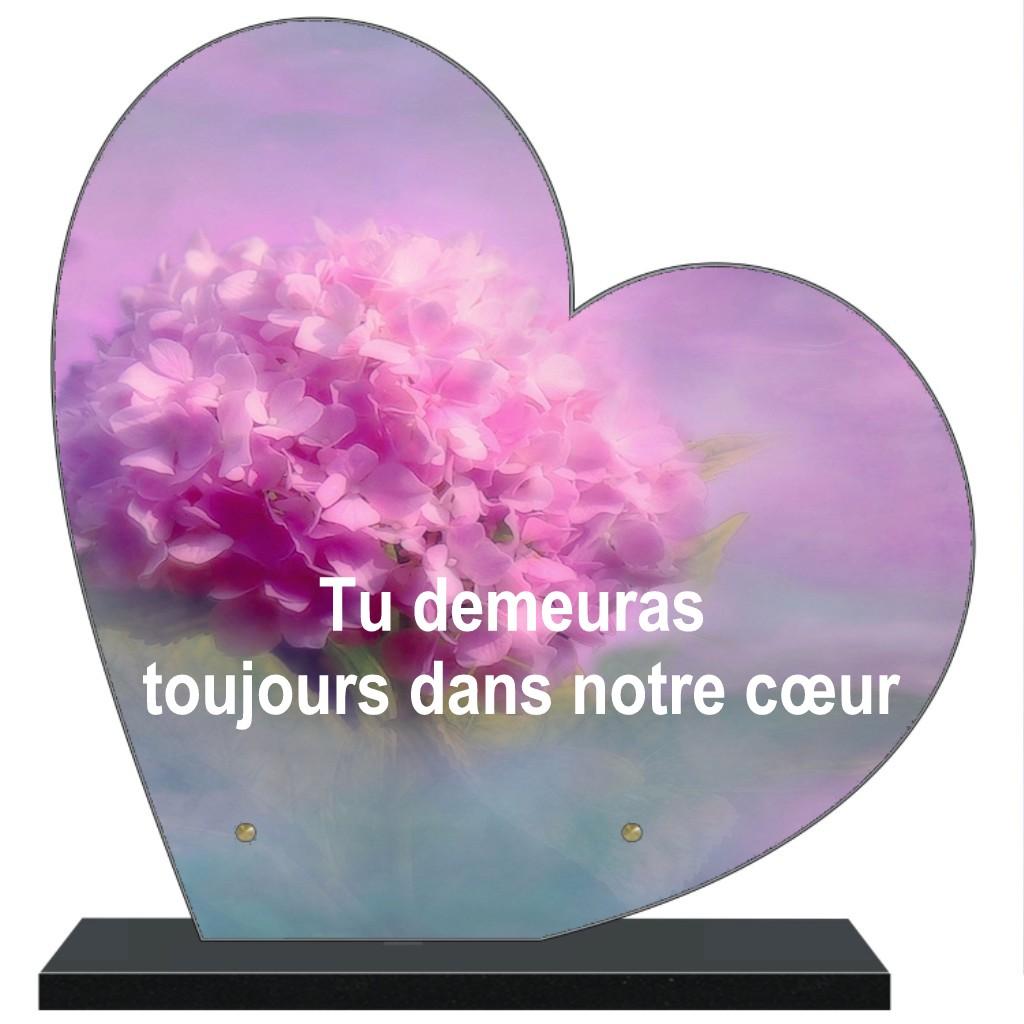 plaque funeraire personnalisable grand coeur